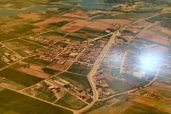 Vista aerea del nucleo urbano de Palacios del Pan
